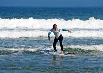 surf course in Praia Azul - Santa Cruz