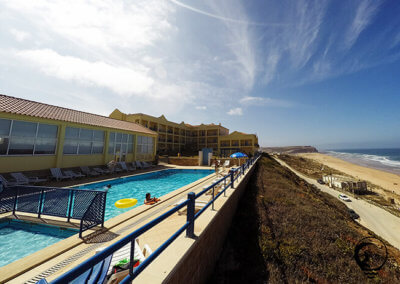 Atlantic Coast Surf School accommodation with ocean View swimming pool