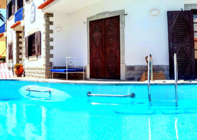 chill by the swimming pool